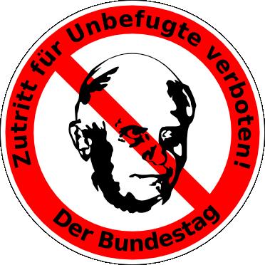 Kein Zutritt für Unbefugte • Der Bundestag