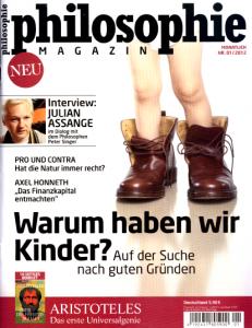 Titelblatt der Erstausgabe vom Philosophie Magzin.