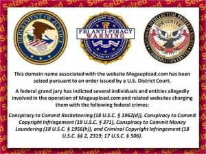Bildschirmfoto dere vom FBI geschlossenen Seite von Megaupload.