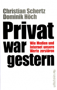 """Buchdeckel """"Privat war gestern"""""""