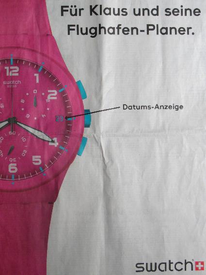 Swatch-Werbung