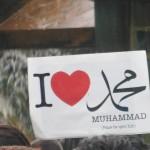 "Protestplakat: ""I ♥ Muhammad"""