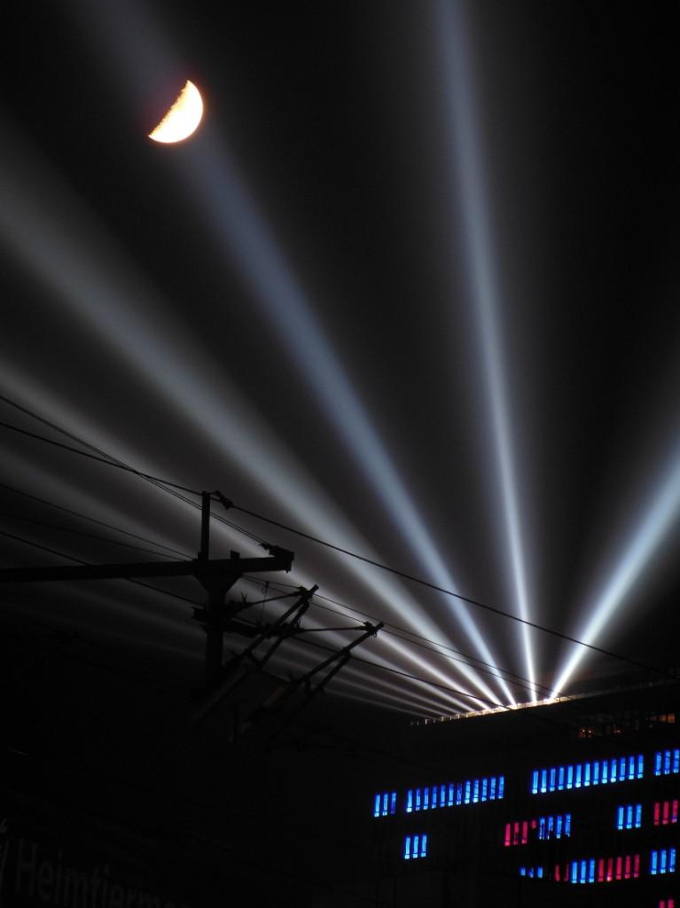 Festival of Lights 2012: Monddurchgang
