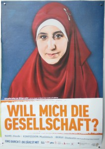 """Werbeplakat: """"Will mich die Gesellschaft?"""""""