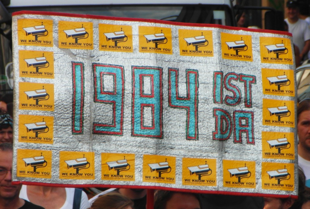 Abb. 13: StopWatchingUs Demo Berlin 2013 — 1984 ist da.