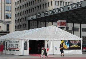 KVPM Ausstellungszelt auf dem Potsdamer Platz in Berlin