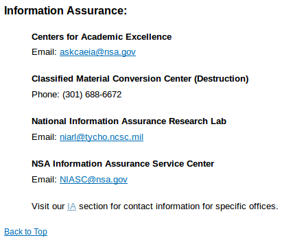 NSA — Material Conversion Center