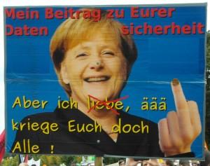 Angela Merkel kriegt uns alle.