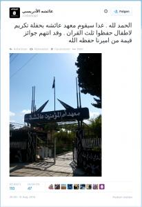 Tweet zu Kindergärten der IS