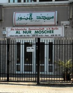 Eingang der Al-Nur Moschee in Berlin-Neukölln.