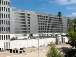 Rückseite Zentralneubau Bundesnachrichtendienst