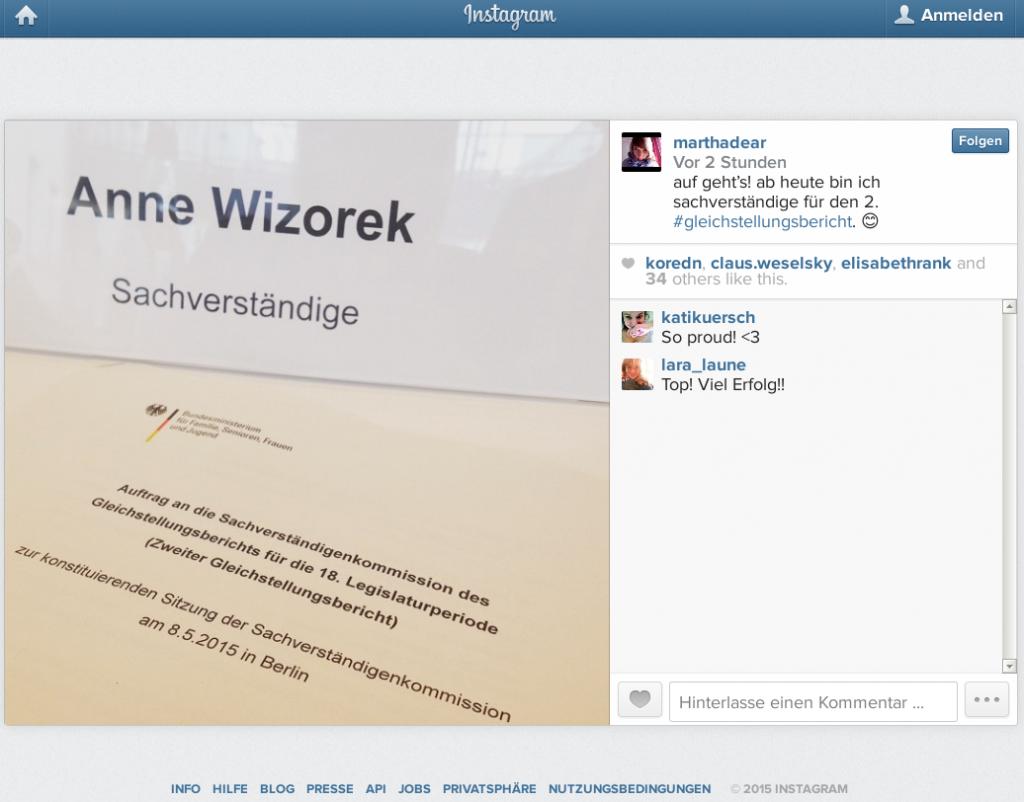"""""""Sachverständige"""" Wizorek für den 2. Gleichstellungsbericht"""