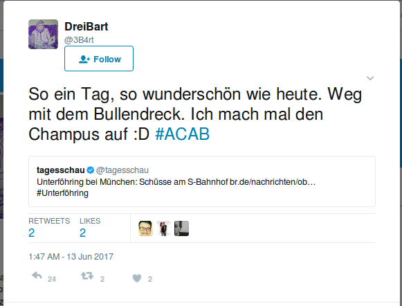 Tweet von Thomas Goerde, alias @3B4rt.