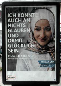 """Werbeplakat Islam vom Verein """"Initiative für Menschenwürde e. V."""""""