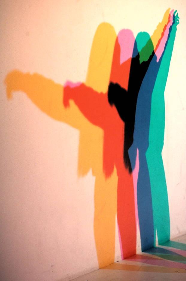 Farbige Schatten.