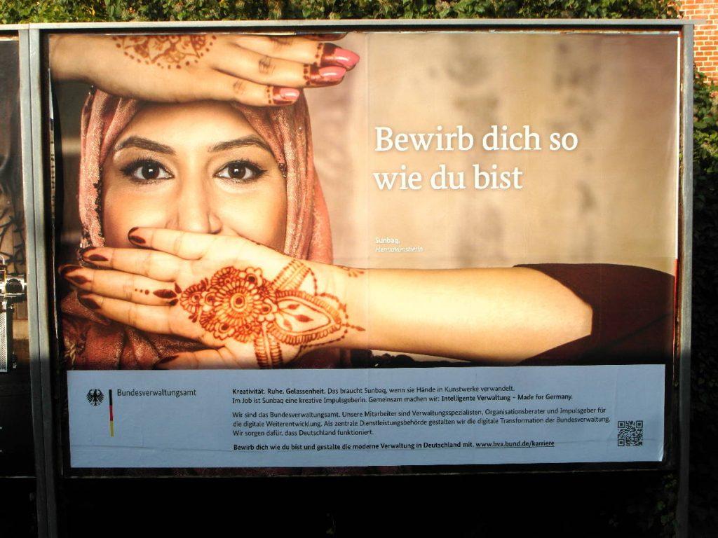 """BVA-Plakat """"Bewirb Dich so wie Du bist"""""""