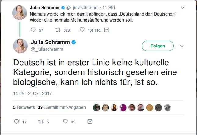 Deutsch als biologisches Faktum nach Julia Schramm.