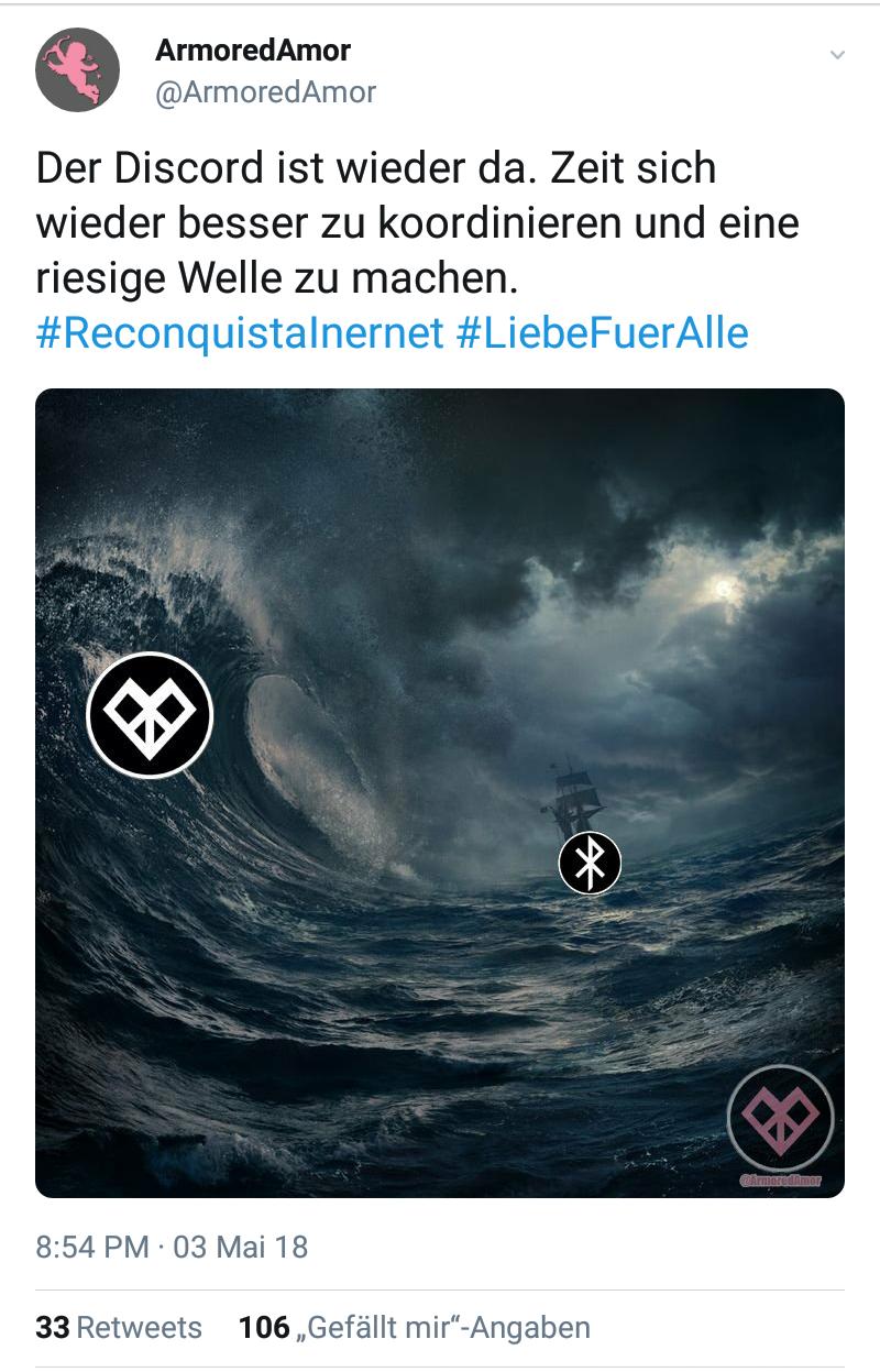 Tweet mit Welle
